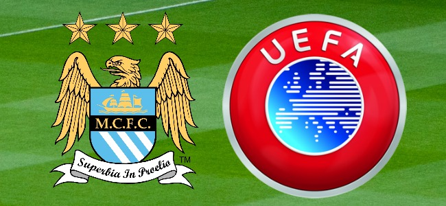 Man City and UEFA Logo