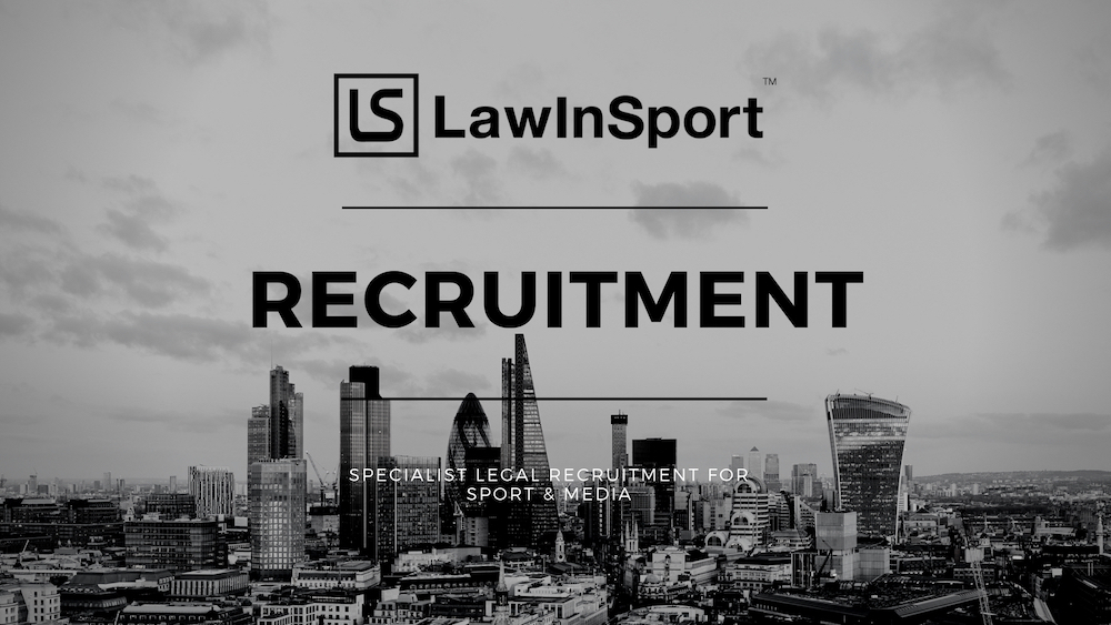 LawInSport Recruitment title image