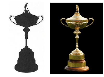 The Ryder Cup Silhouette and Trophy