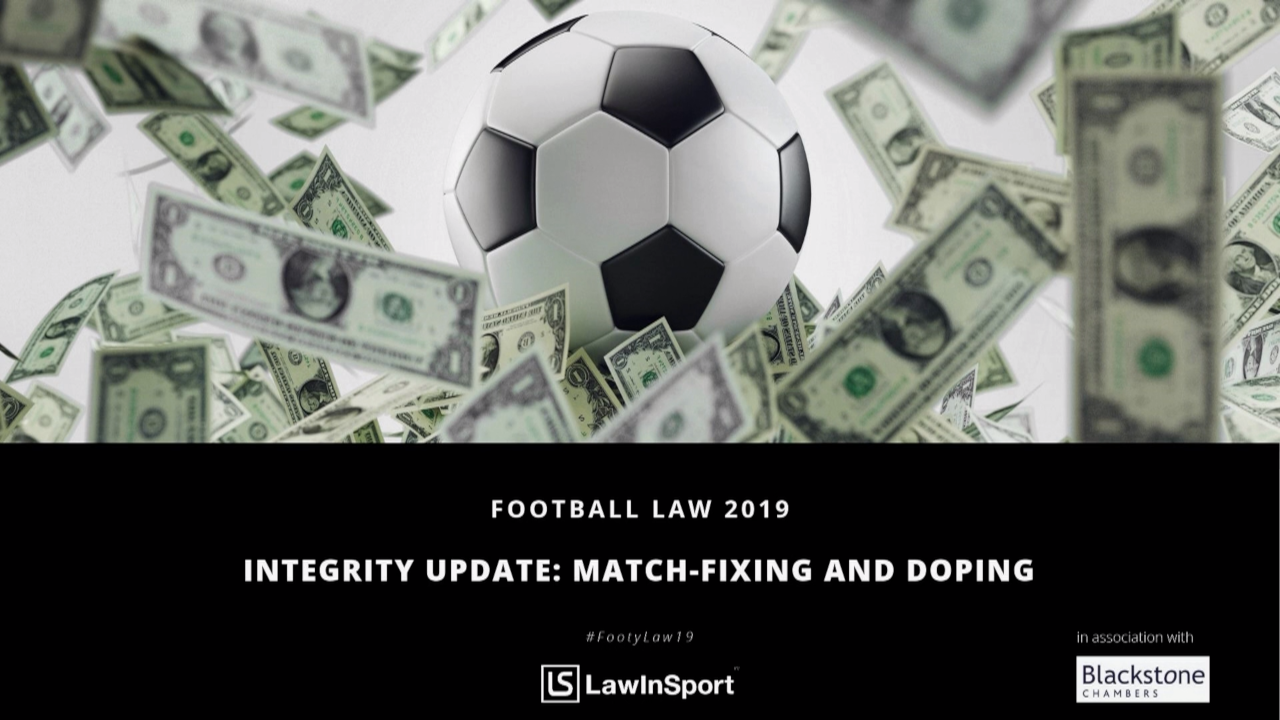 integrity update match fixing and doping