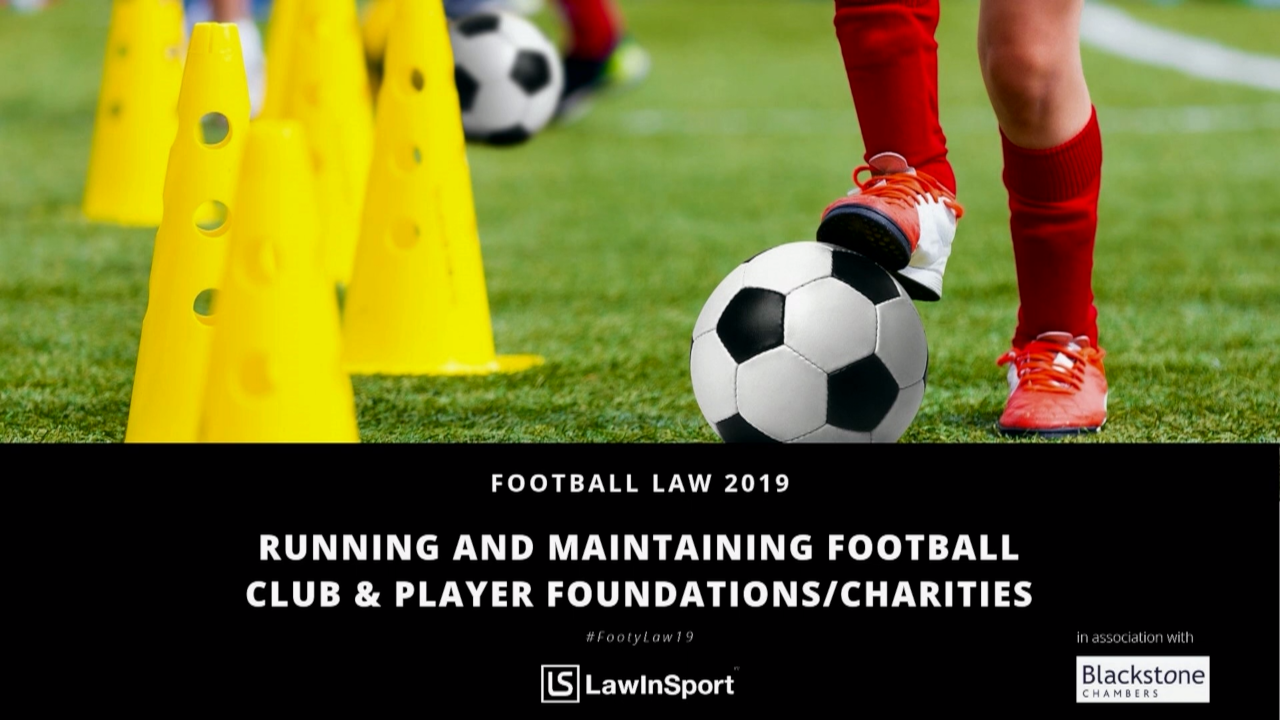 running and maintaining football club and player charities