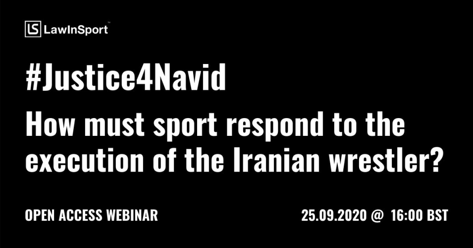 #Justice4Navid - How must sport respond to the execution of  the Iranian wrestler?