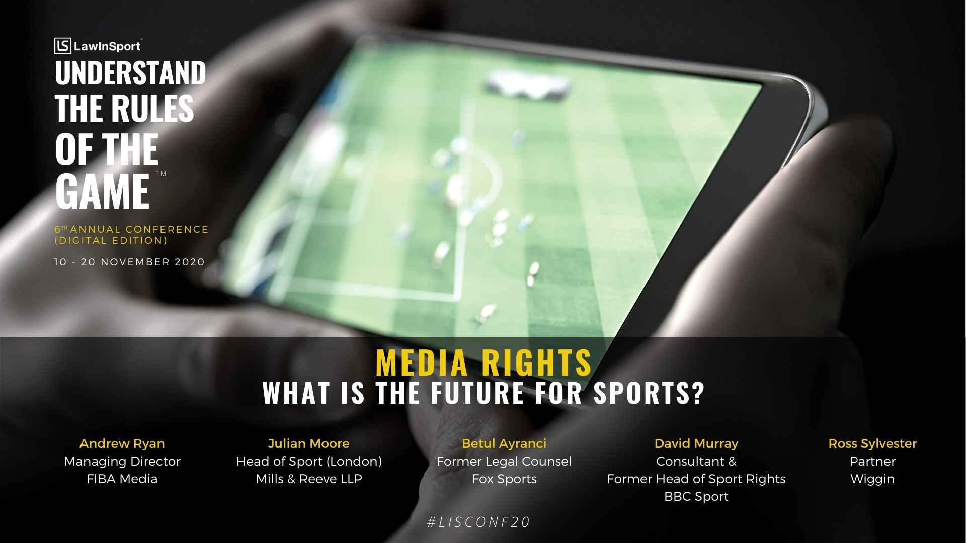 The future of sports media rights to be discussed at the LawInSport 6th Annual Conference 2020