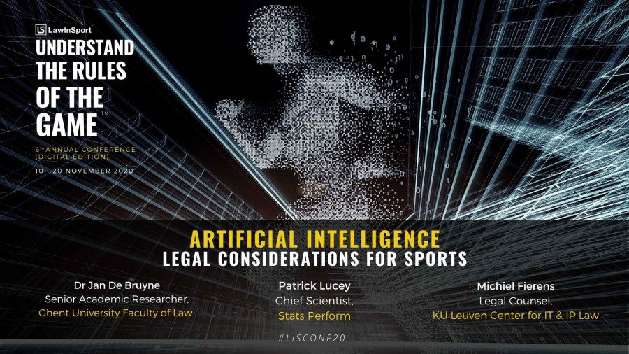 Legal considerations for artificial intelligence in sport to be discussed at the LawInSport 6th Annual Conference 2020
