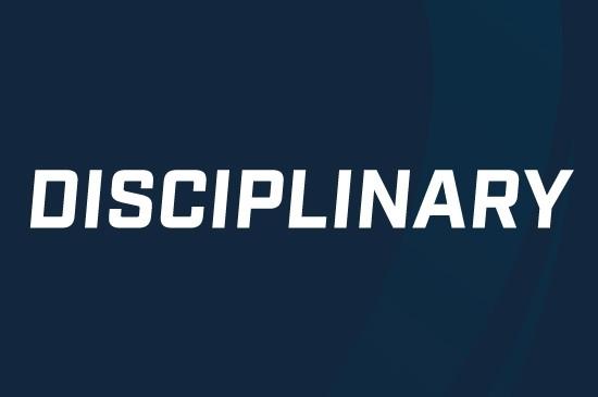 Disciplinary update