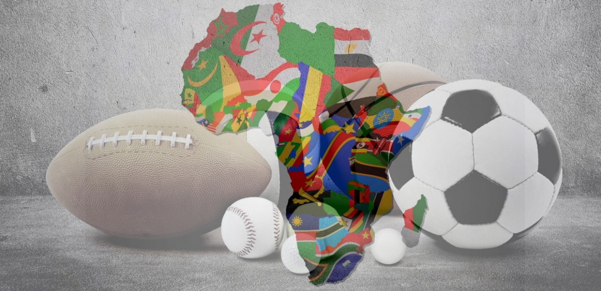 Africa with sports background
