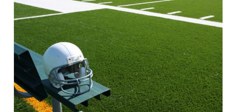 American_Football_Helmet_On_Bench