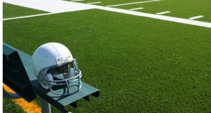 American_Football_Helmet_On_Bench