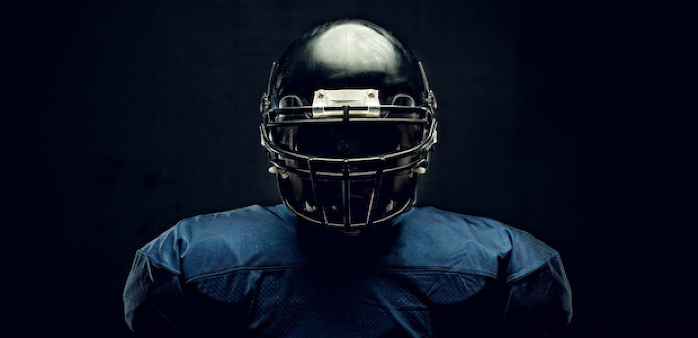 American football player in uniform