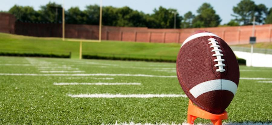 American football ready for field goal