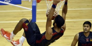 Amritpal Singh Slam Dunks Basketball