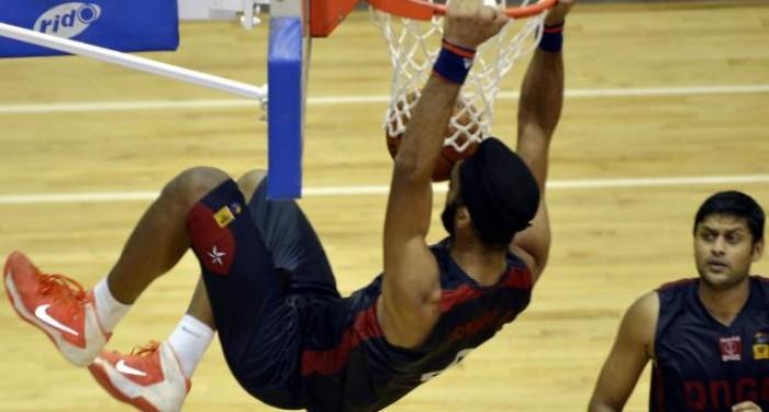 Amritpal Singh Slam Dunks Basketball