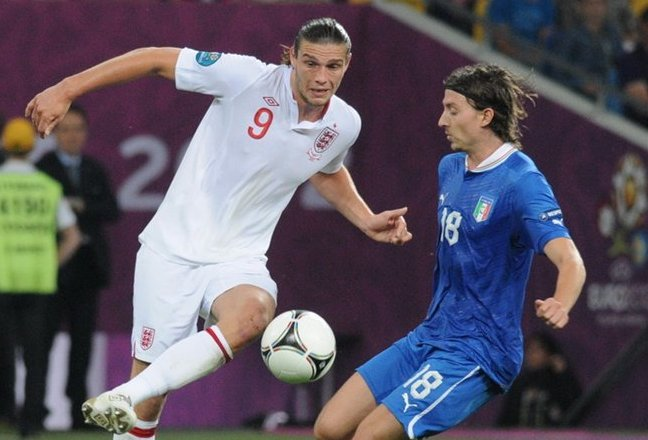 Andy Carroll and Riccardo Montolivo