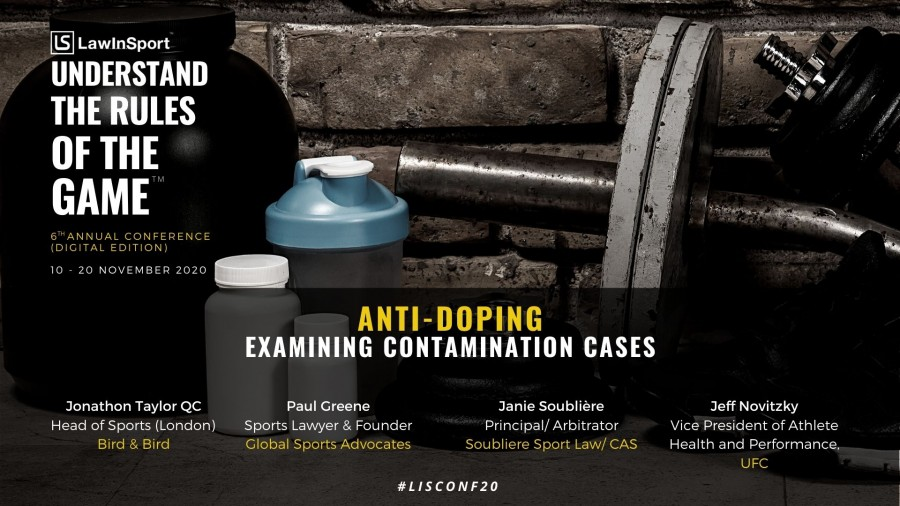 How best to approach contamination cases in anti-doping to be discussed at LawInSport's 6th Annual Conference