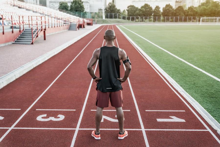 Athlete standing
