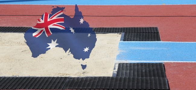 Athletics_Sandpit_With_Autralian_Flag_on_Continent