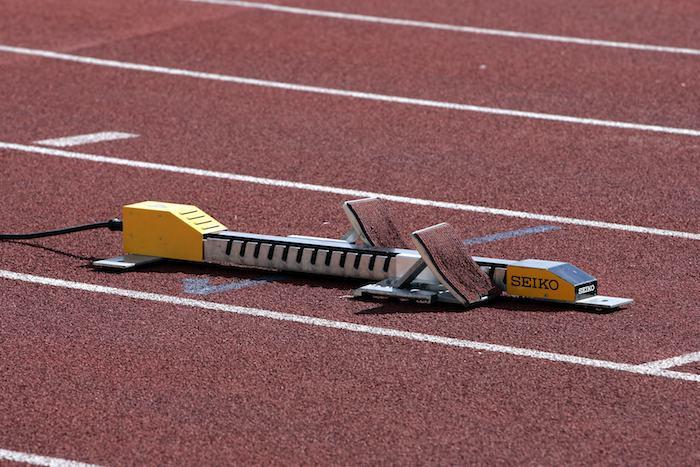 Athletics track blocks