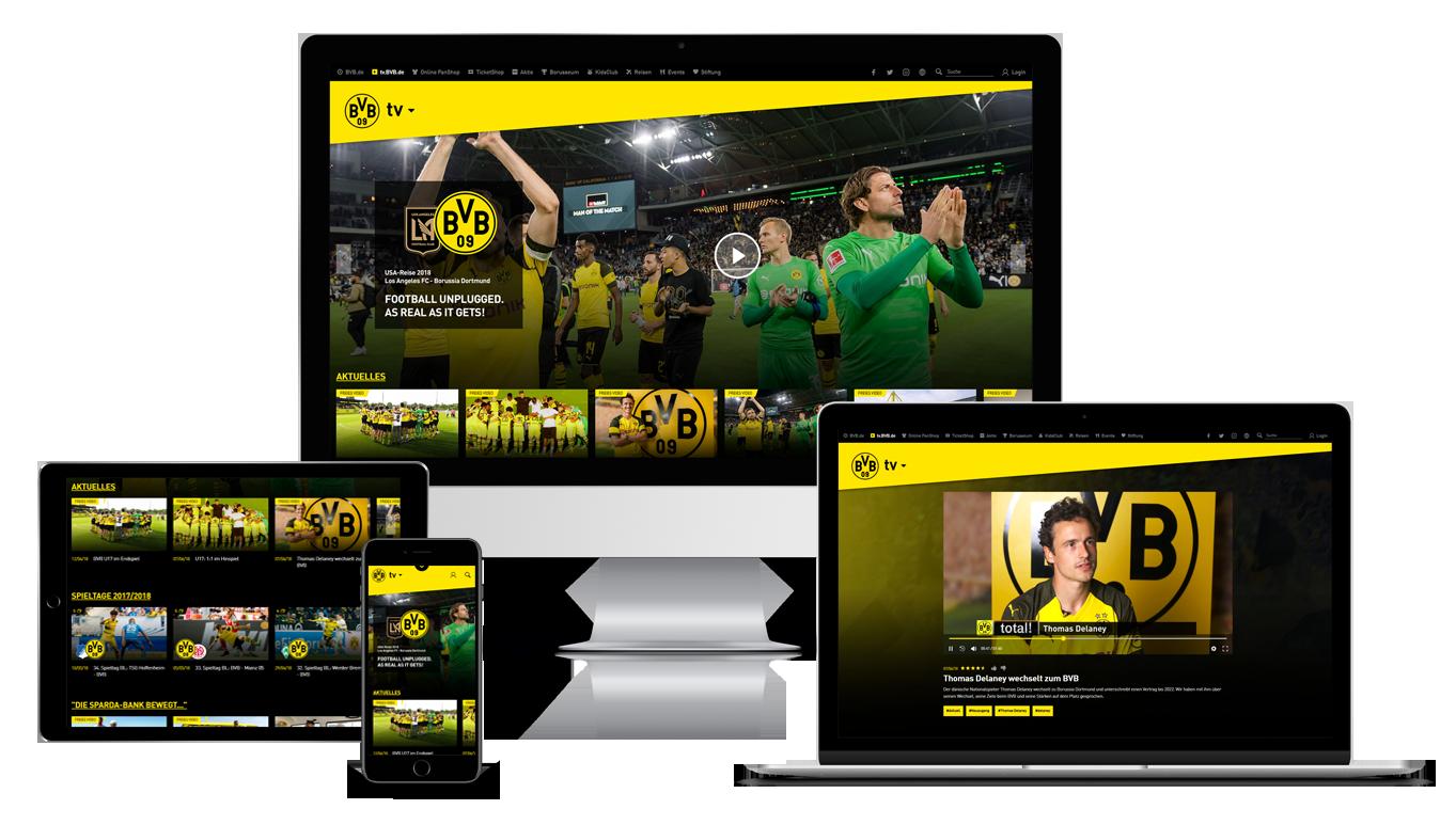 Borussia Dortmund Relaunch New Bvb Tv With Sportradar Lawinsport