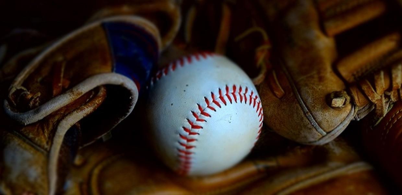 Baseball on glove