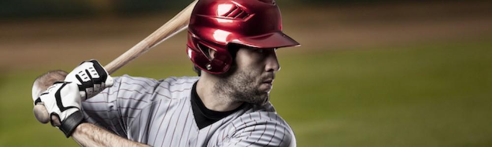 Baseball player getting ready to bat