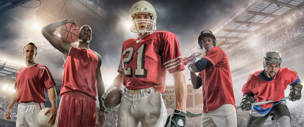 Baseball, Soccer, American Football, Ice hockey And Basketball Sportspersons