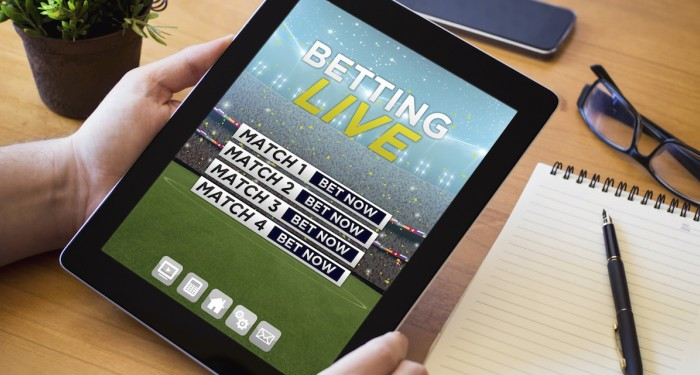 Betting live on iPad
