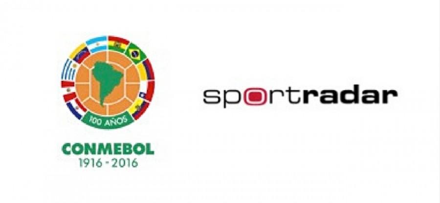 CONMEBOL Sportradar Logo