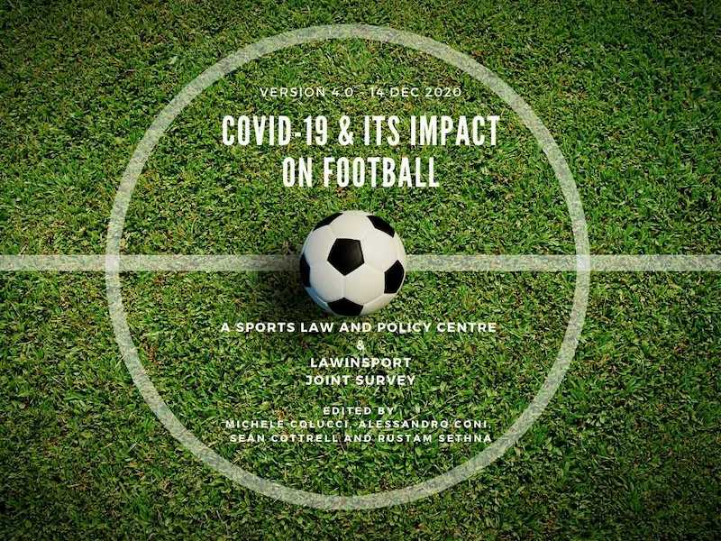 Title image: COVID-19 and its impact on football -  A Sports Law and Policy Centre and LawInSport Joint Survey
