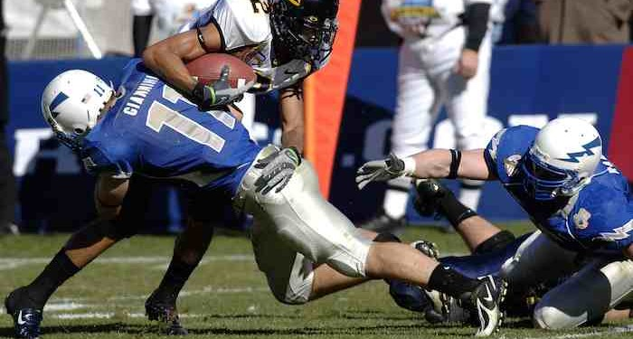 Cal Bears player tackled