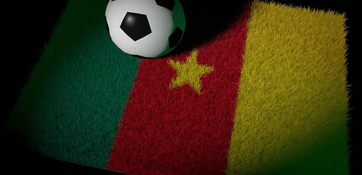 Cameroon Flag and Football