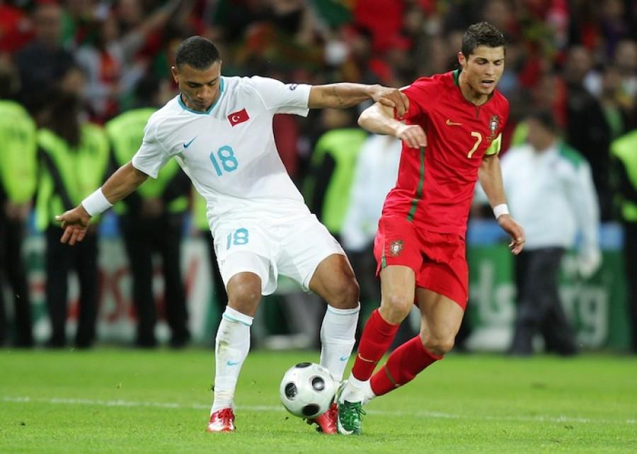 Colin Kazim-Richards and Cristiano Ronaldo