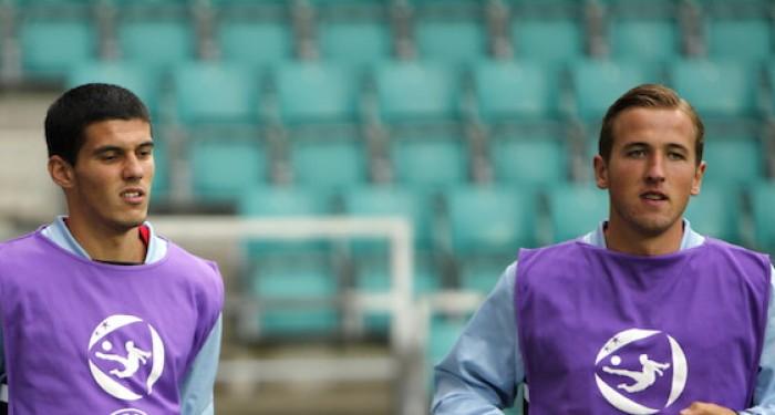 Conor Coady and Harry Kane