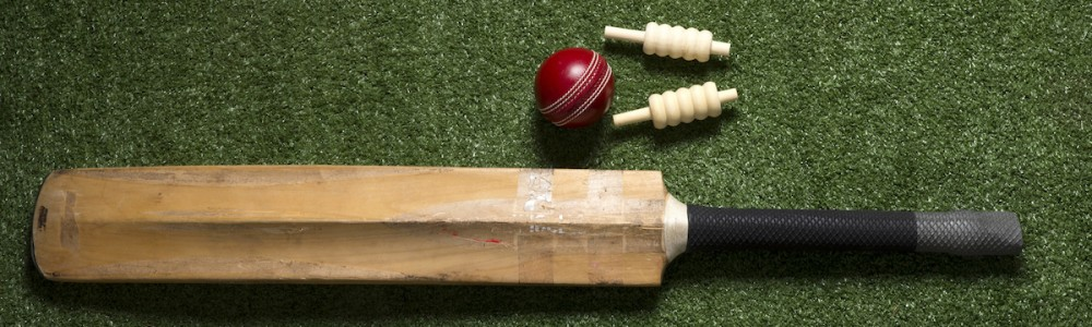 Cricket Bat, ball and wickets