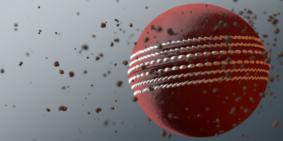 Cricket ball closeup
