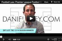 The final score on football law on YouTube