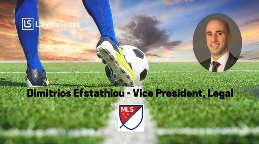 Title image - Dimitrios Efstathiou, Vice President, Legal at Major League Soccer