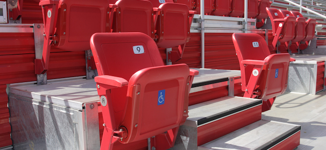 Disabled seating at stadium