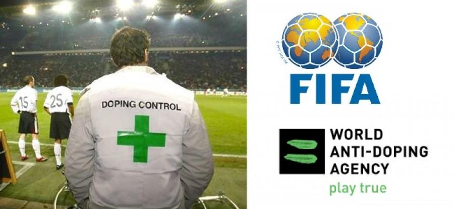 Doping Control and FIFA and WADA Logos