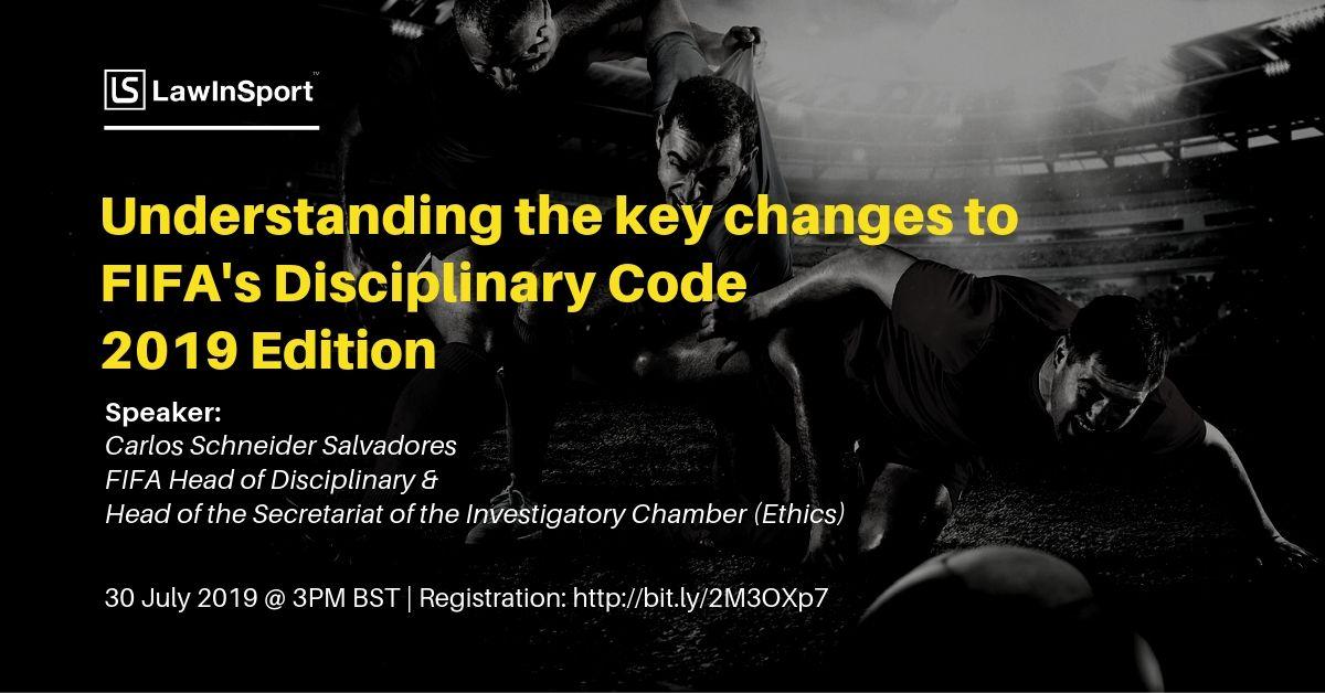 FIFA Disciplinary Code Webinar