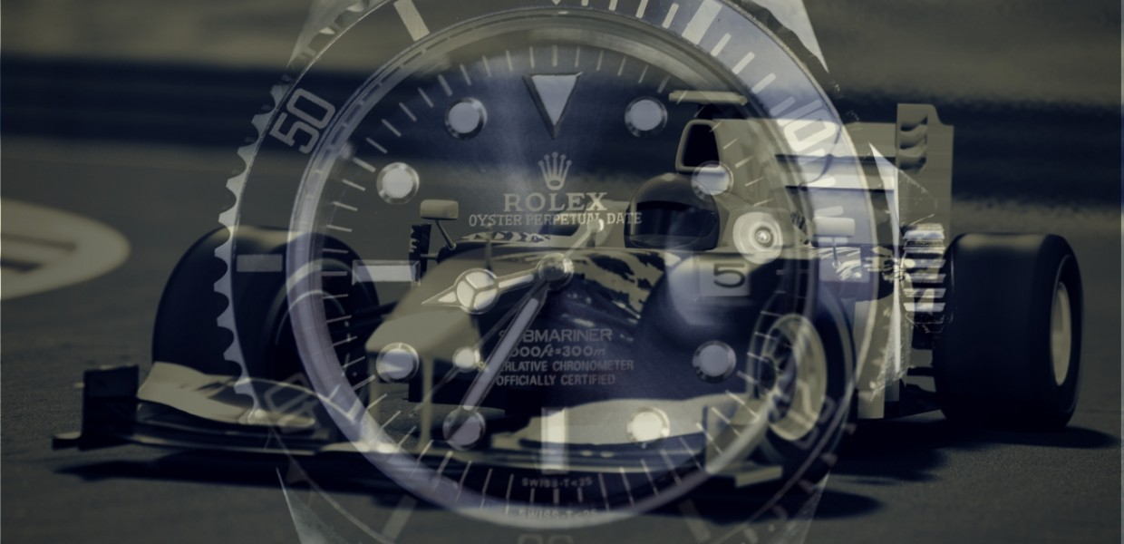 F1 and Rolex overlay