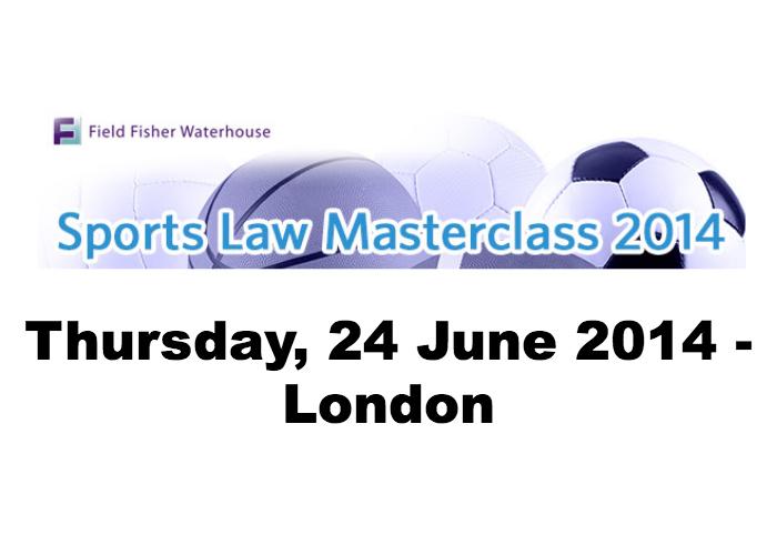 Sports Law Masterclass 2014