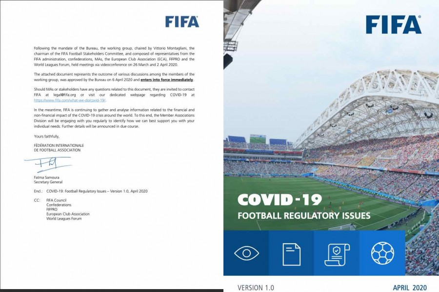 Photo of FIFA FOOTBALL REGULATORY ISSUES APRIL 2020 document