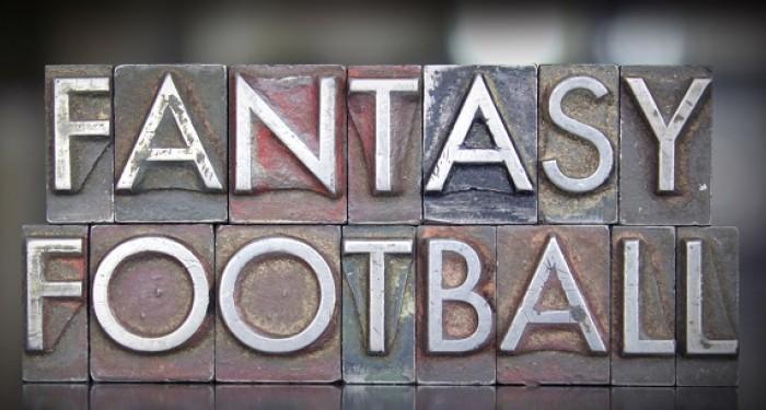 Fantasy football in block letters
