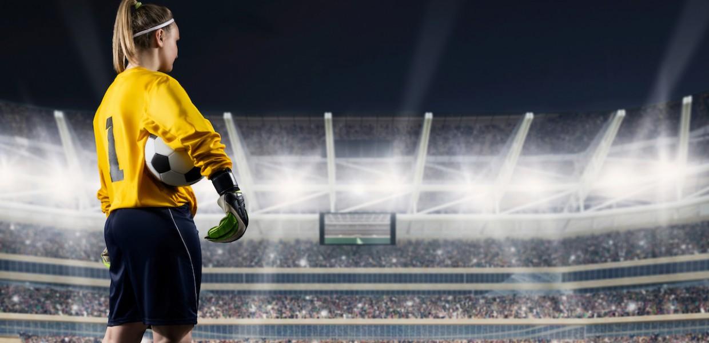 Female Footballer on field