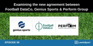 Football DataCo Genius Sports and Perform Group title image