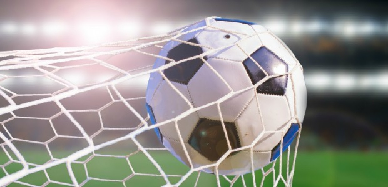 Football in back of net