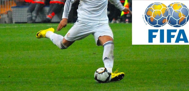 Football Kicked and FIFA Logo