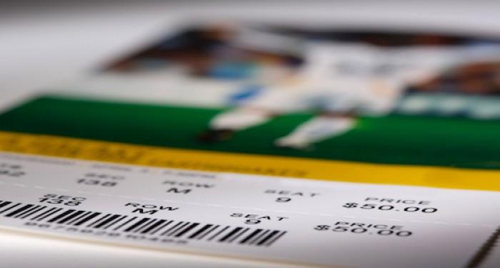 Football ticket barcode