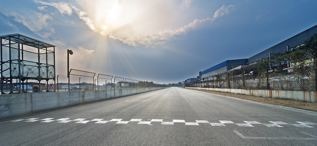 Formula One finish line