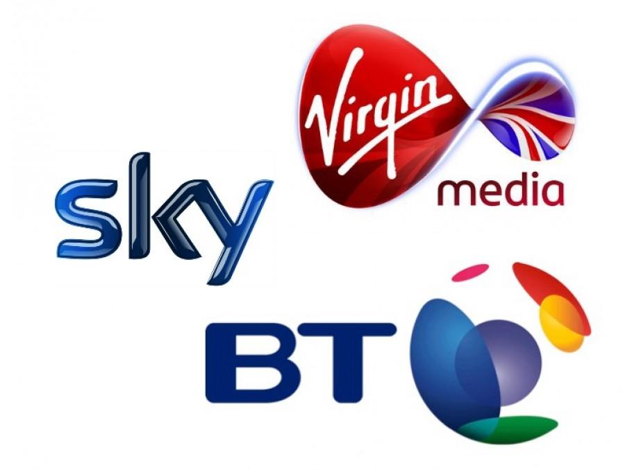 BT, Sky and Virgin Media Logos